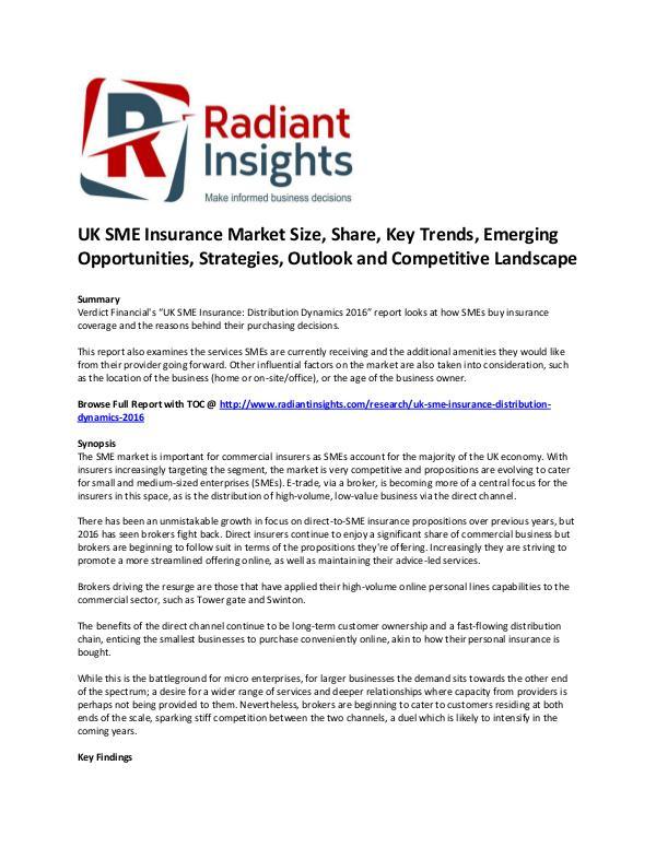 UK SME Insurance Market