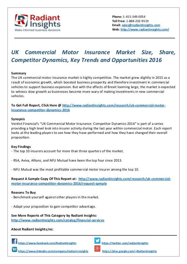 UK commercial motor insurance market