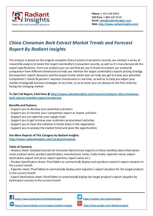 China Cinnamon Bark Extract Market