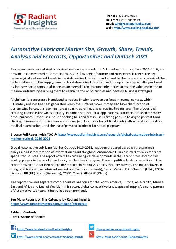 Automotive Lubricant Market