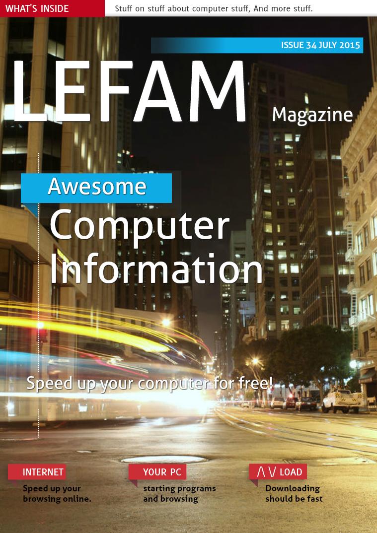 LEFAM Magazine LEFAM 34