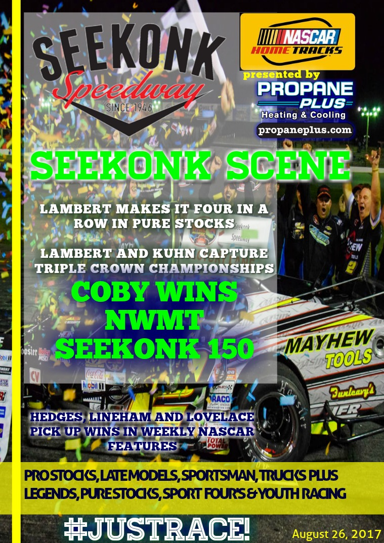 Seekonk Speedway Race Magazine August 25 & 26