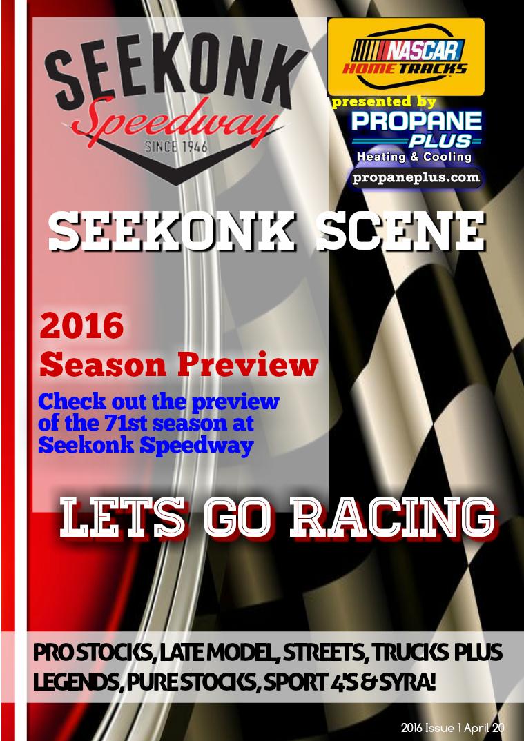 Seekonk Speedway Race Magazine 2016 Season Preview