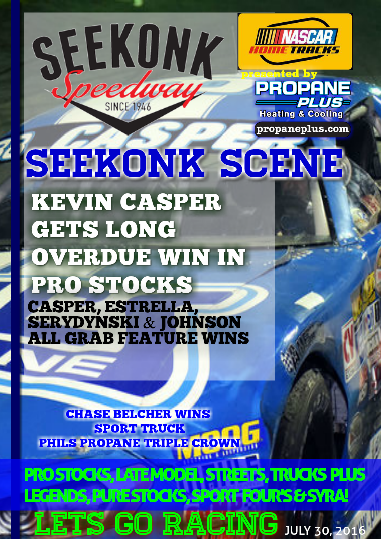 Seekonk Speedway Race Magazine July 29-30 Weekend Recap