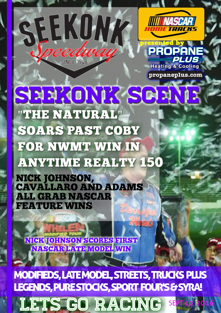 Seekonk Speedway Race Magazine September 9-10 Recap