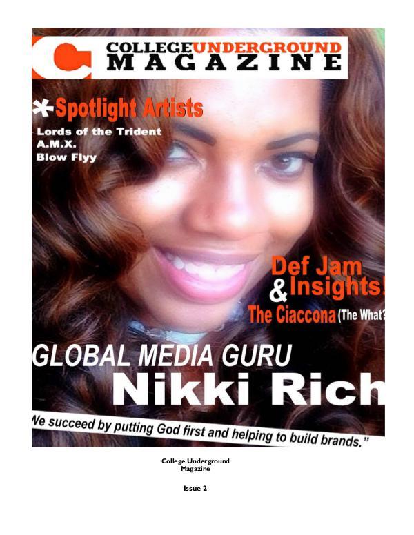 College Underground Magazine Issue 2