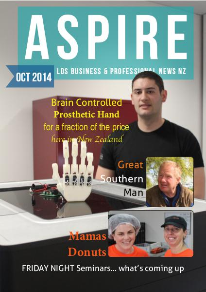 Aspire - LDS Business & Professionals' News NZ Issue #3, Oct 2014