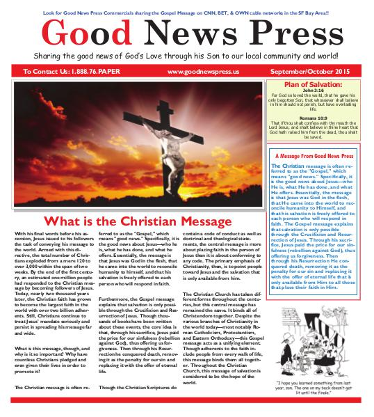 Good News Press September/Oct. 2015 September 2015