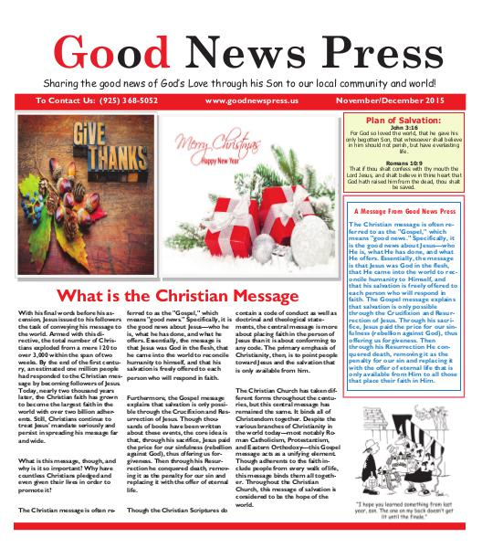 Good News Press September/Oct. 2015 Good News Press November/December 2015