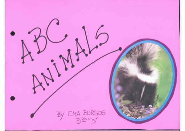 ABC Animals By Ema Burgos 3°D ABC Animals By Ema Burgos 3°D