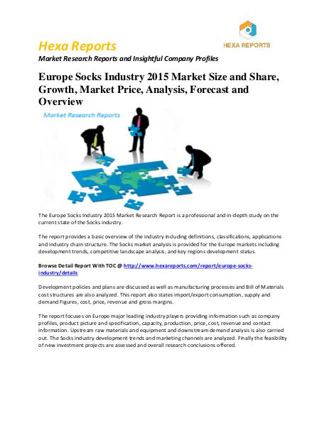 Research and Markets: Europe Socks Industry Analysis 2015-2020