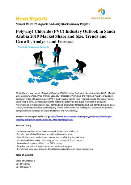 Polyvinyl Chloride (PVC) Industry Outlook in Saudi Arabia 2016 - 2019