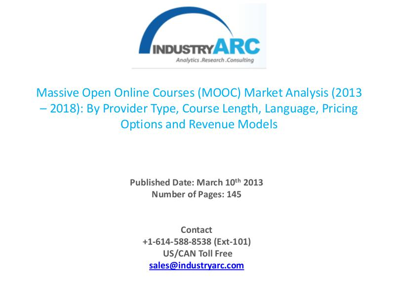 MOOC market is exhibiting great potential to grow exponentially over Massive open online courses market