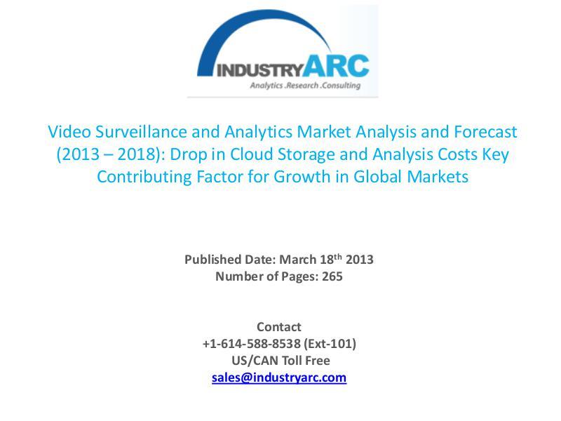Video Surveillance Service Market's Exclusive High Level Analysis. Video Surveillance, Service and Analytics Market