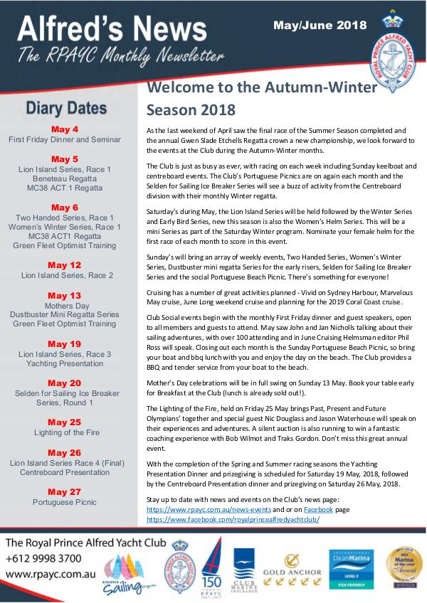 The Alfred's News The Alfred's News Winter Edition 2018
