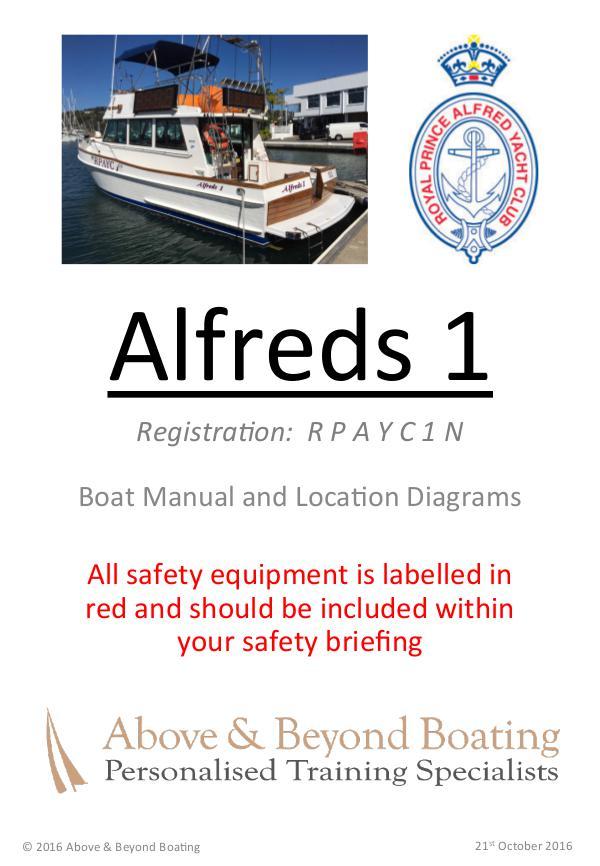 Alfreds I & II Operation Manuals Volume 1