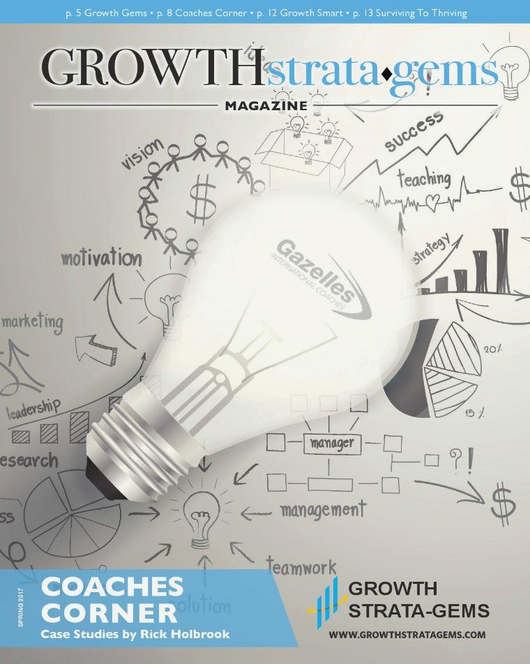 Growth Strata•Gems Magazine Growth Strata•Gems Magazine Spring 2017