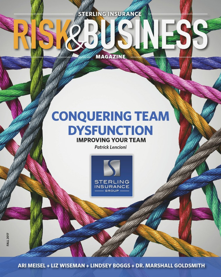 Risk & Business Magazine Sterling Insurance Fall 2017