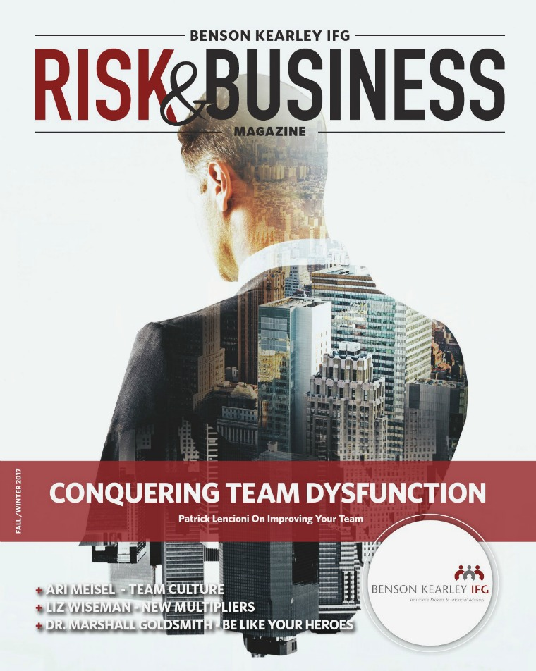 Risk & Business Magazine Benson Kearley IFG Magazine Fall 2017