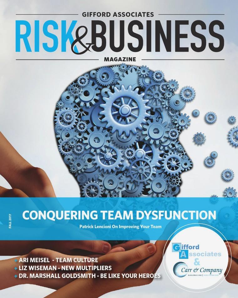 Risk & Business Magazine Gifford Associates Fall 2017