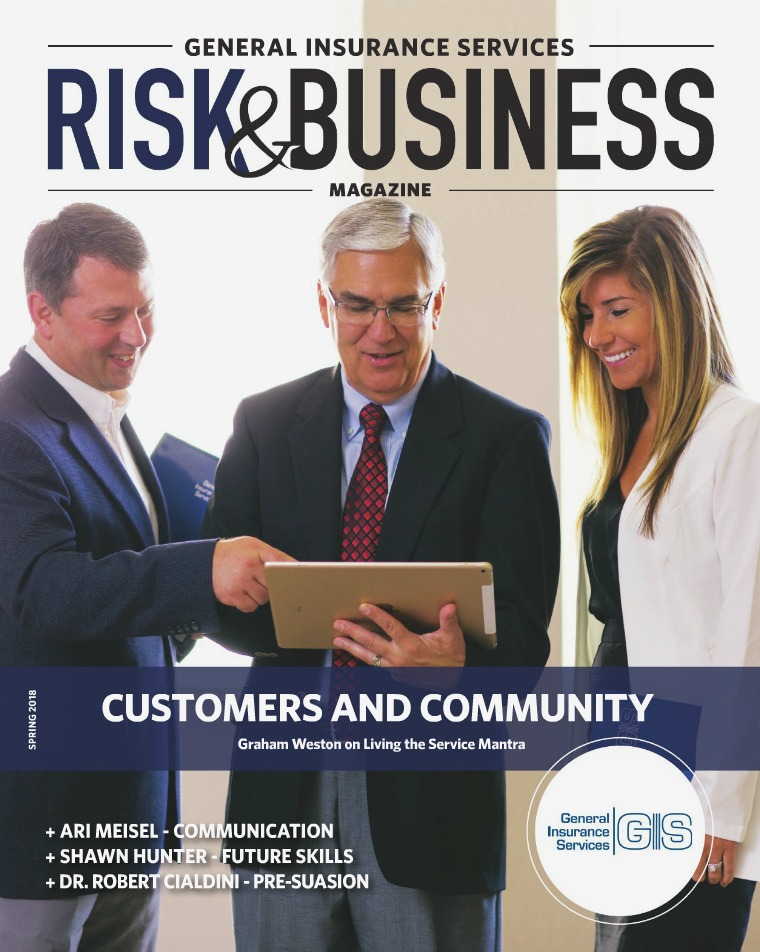 Risk & Business Magazine General Insurance Services Magazine Spring 2018