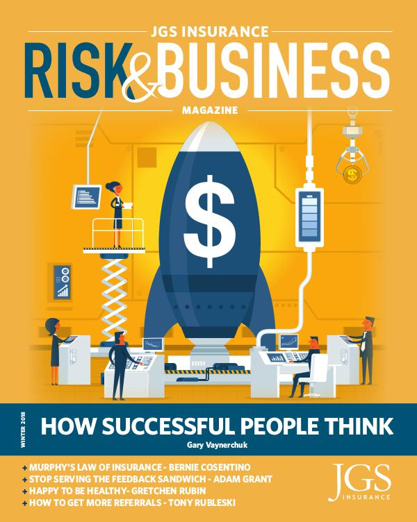 Risk & Business Magazine JGS Insurance Magazine Winter 2018