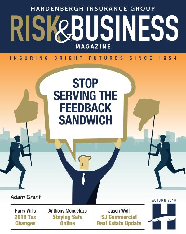 Risk & Business Magazine Hardenbergh Insurance Group Magazine Winter 2018