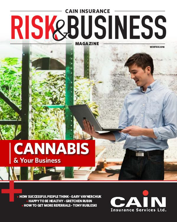 Risk & Business Magazine Cain Insurance Magazine Winter 2018