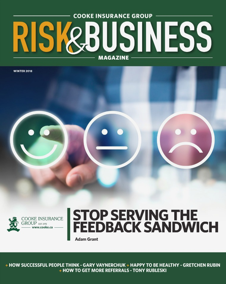 Risk & Business Magazine Cooke Insurance Group Magazine Winter 2018