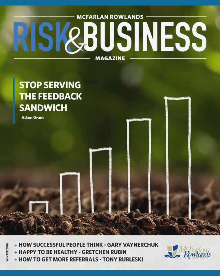 Risk & Business Magazine McFarlan Rowlands Magazine Winter 2018