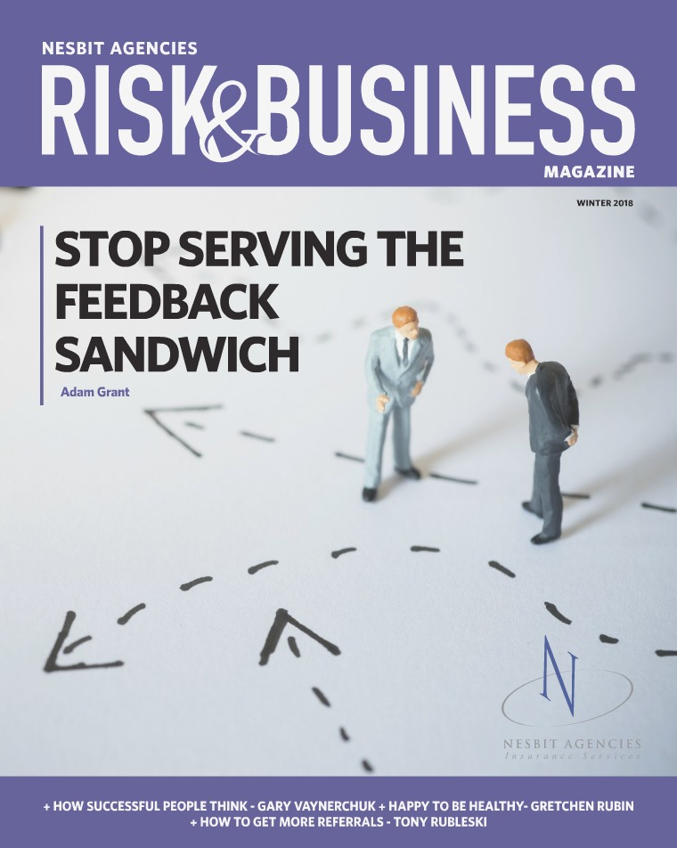 Risk & Business Magazine Nesbit Agencies Winter 2018