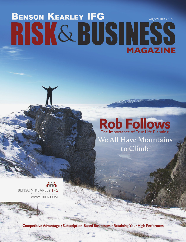 Risk & Business Magazine Benson Kearley IFG Fall 2015