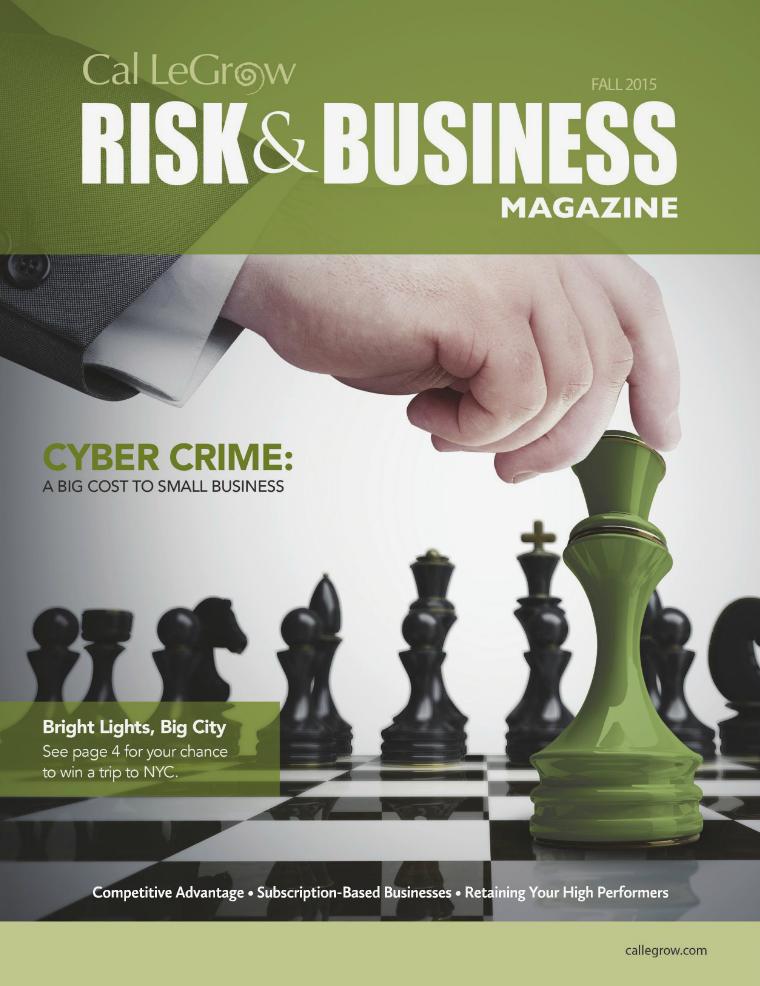 Risk & Business Magazine Cal LeGrow Fall 2015