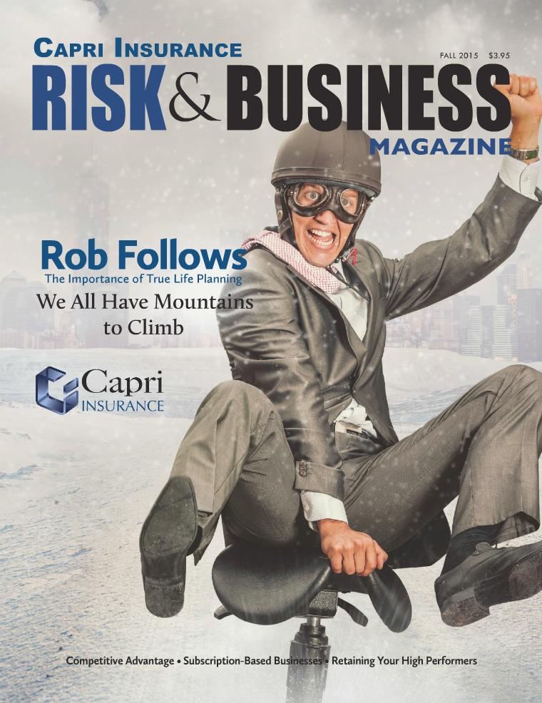 Risk & Business Magazine Capri Insurance Fall 2015