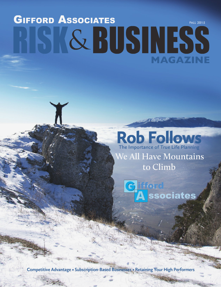 Risk & Business Magazine Gifford Associates Fall 2015