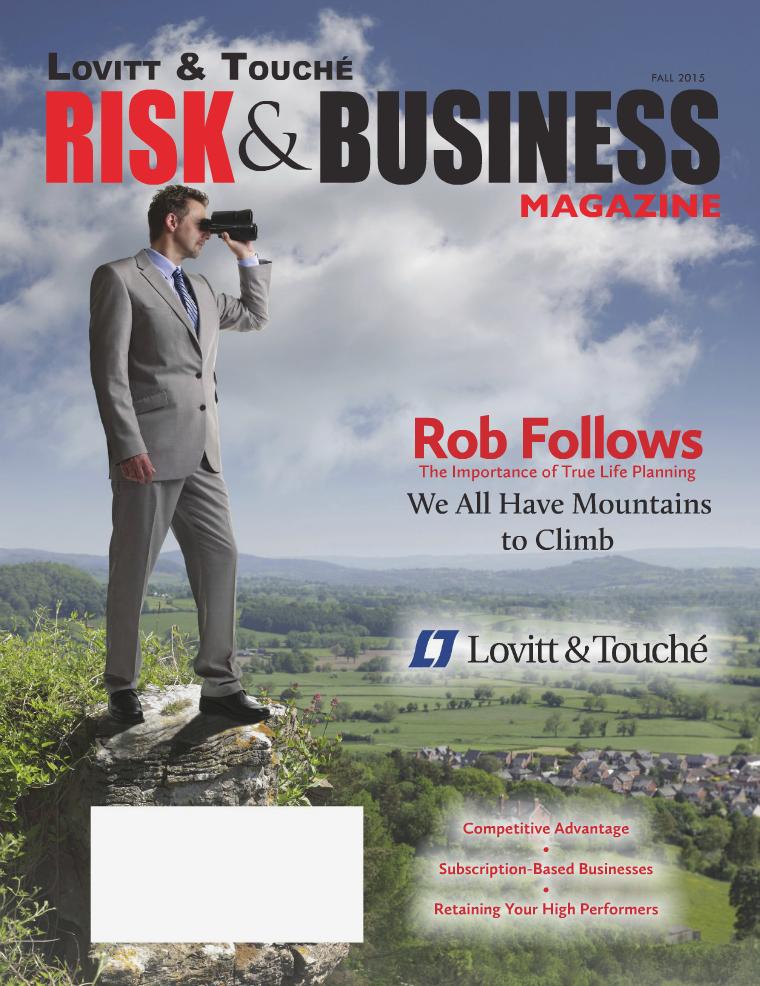 Risk & Business Magazine Lovitt & Touché Fall 2015