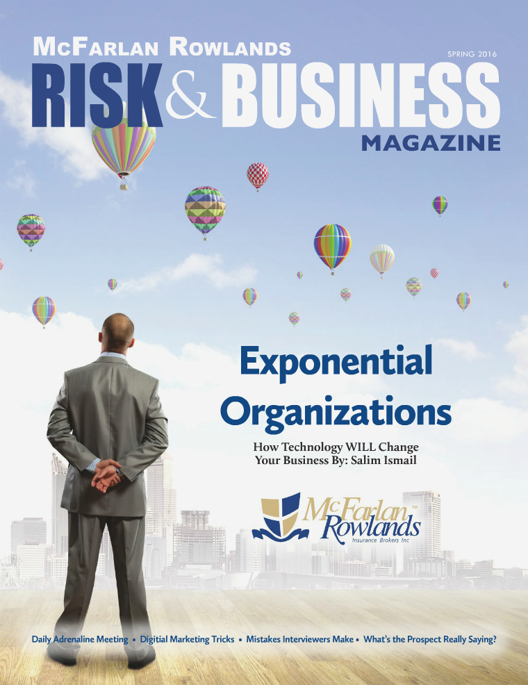 Risk & Business Magazine McFarlan Rowlands Spring 2016