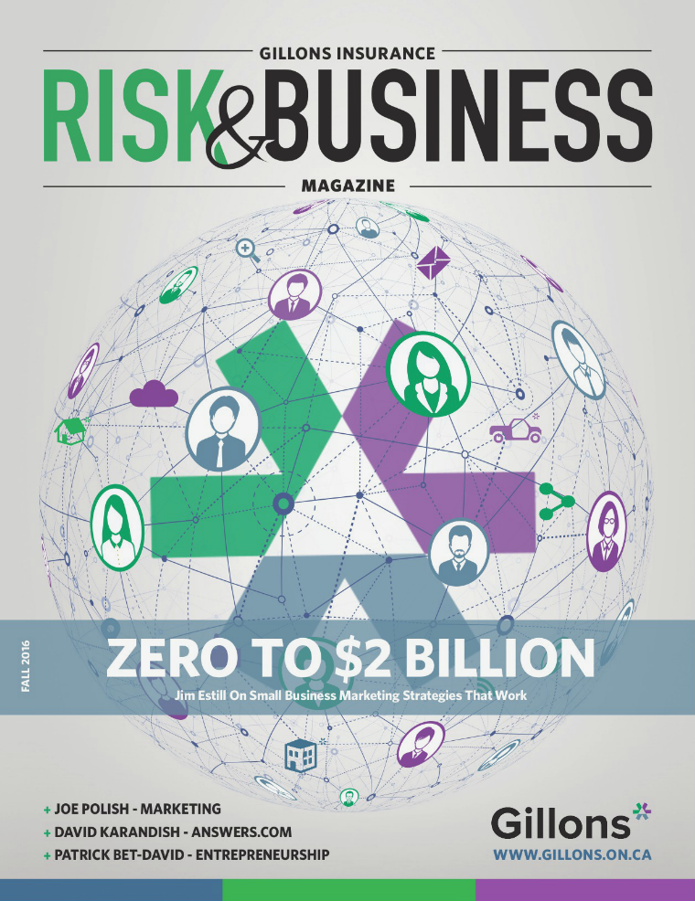 Risk & Business Magazine Gillons Insurance  Fall 2016