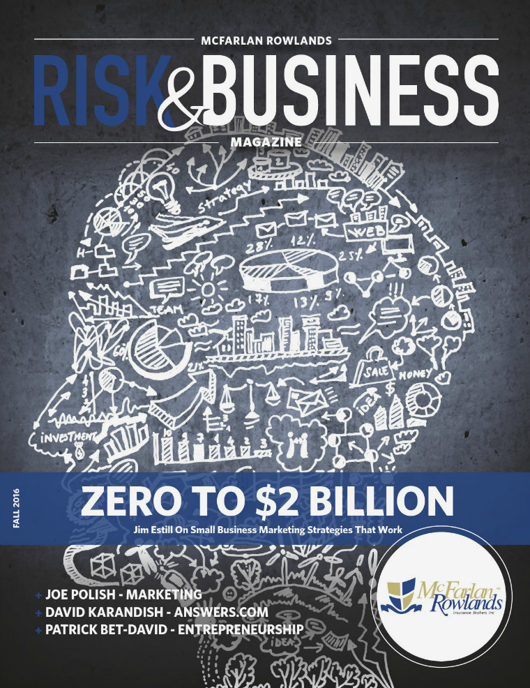 Risk & Business Magazine McFarlan Rowlands Fall 2016