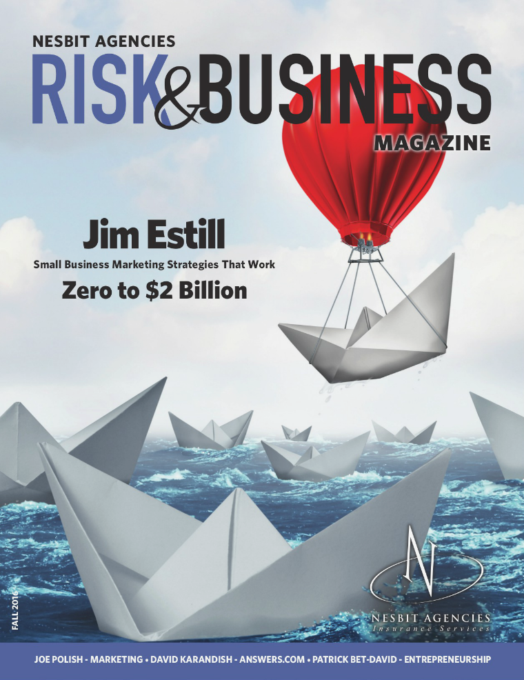 Risk & Business Magazine Nesbit Agencies Fall 2016