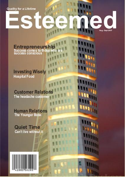 Esteemed Magazines August - September 2007