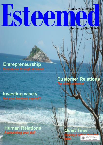 Esteemed Magazines February-March 2008