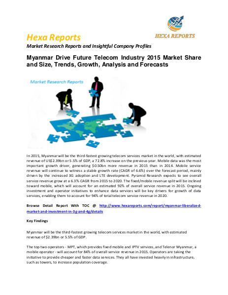 Myanmar Drive Future Telecom Market Research Reports