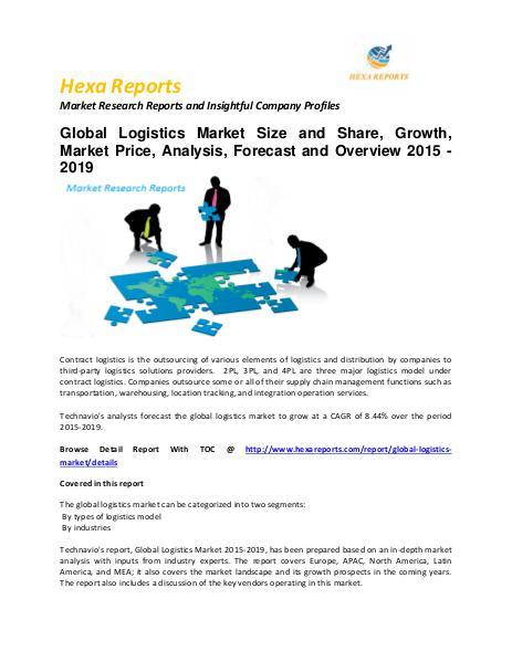 Logistics Market trends and Forecast 2015 - 2020