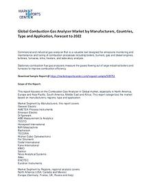 Combustion Gas Analyzer Market By Trends, Growth, Demand and Forecast