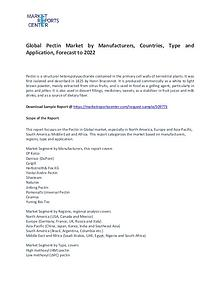 Pectin Market Research Report Analysis To 2022