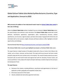 Calcium Tablets Market 2017