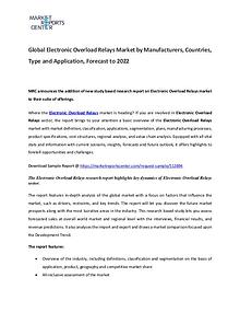 Electronic Overload Relays Market 2017
