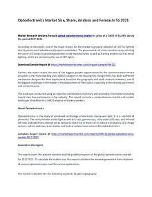 Optoelectronics Market Report Analysis to 2021