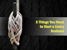 5 Things You Need to Start a Livery Business